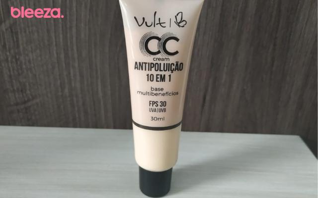 Embalagem do CC Cream Vult Antipoluição