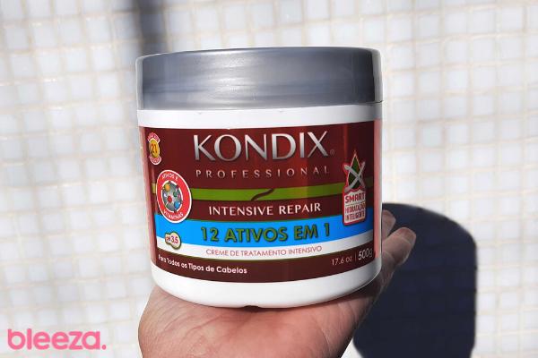 Embalagem creme de tratamento intensivo kondix