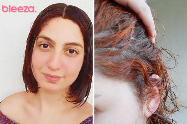 A consistência da máscara deixa um bom enluvamento no cabelo